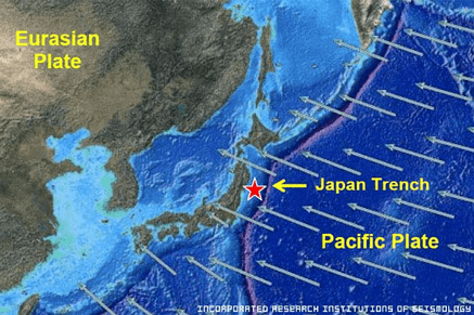2011 Japan Earthquake Map