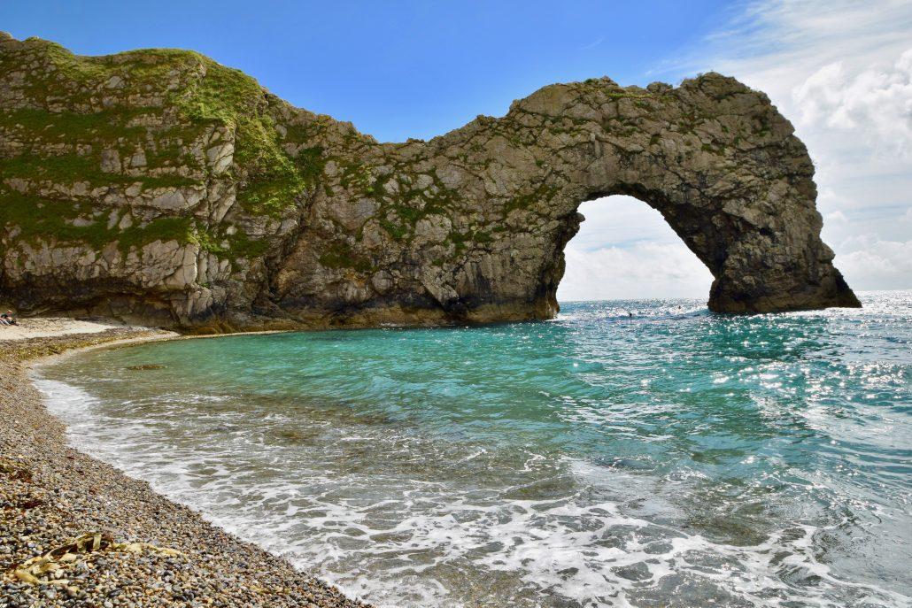 Durdle Door, a coastal arch in Dorset.