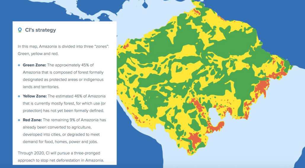 Map of the Amazon by Conservation International - https://www.conservation.org/where/Pages/amazonia.aspx