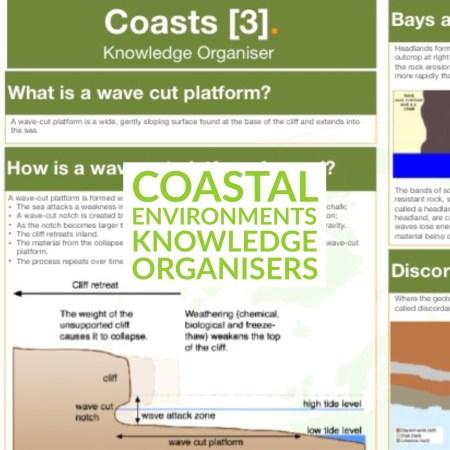coasts knowledge organiser