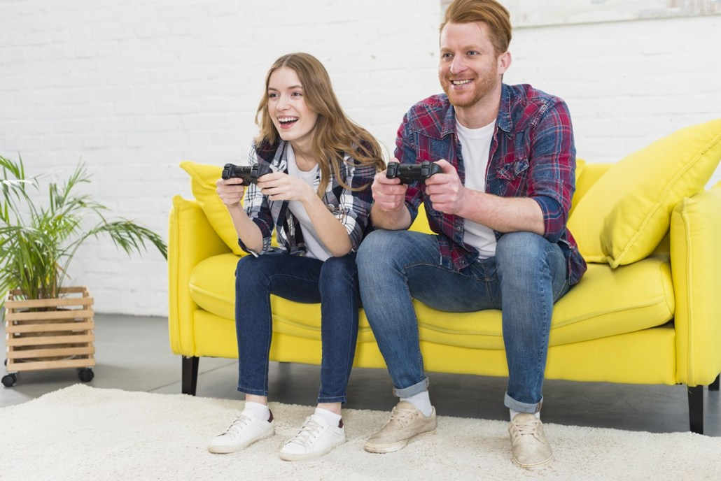 two young people gaming