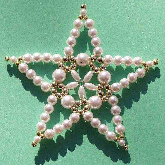Weihnachts Sterne Mit Wachs Perlen