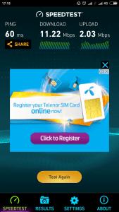 Ooredoo 4G LTE Speedtest