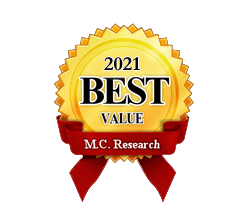 Award - Web Services 2021 Best Value by M.C. Research. This is the 6 year Internet Market Consulting was recognized as the BEST web services company.