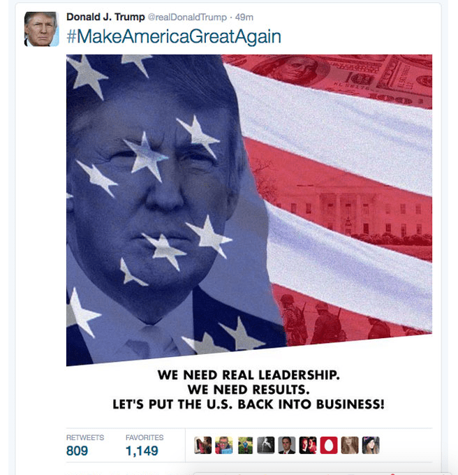 Donald Trumps Campaign Tweet.