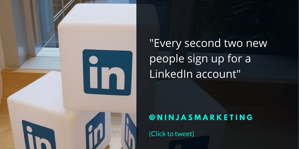 Every second two new people sign up for a LinkedIn account