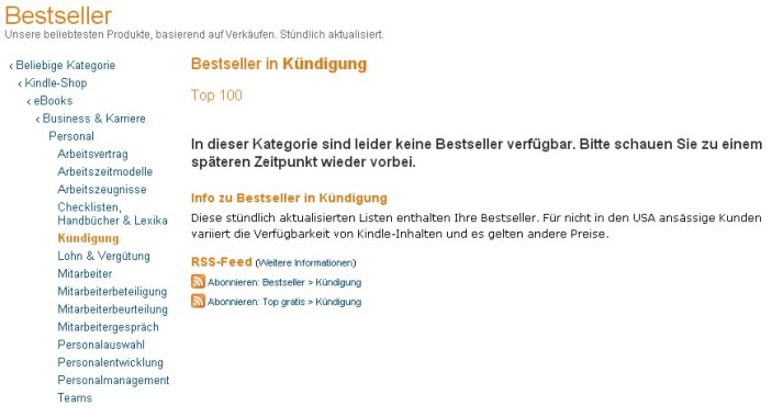Kindle E-Books ohne Kategorie