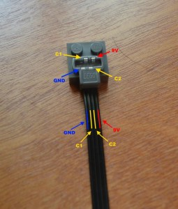 LEGO PF cable pinout picture