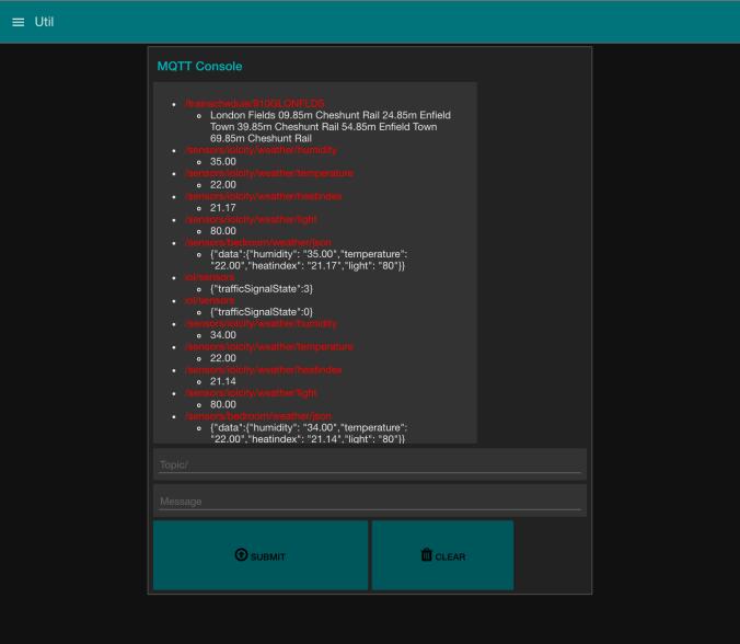 Node-RED MQTT Console Flow