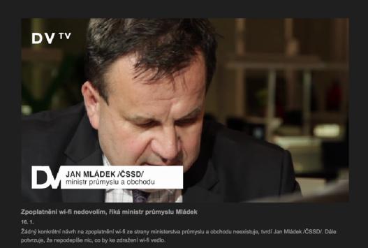 Ministr Mládek v DVTV