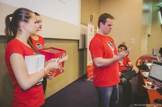 WordCamp Praha 2015 - losování Český hosting