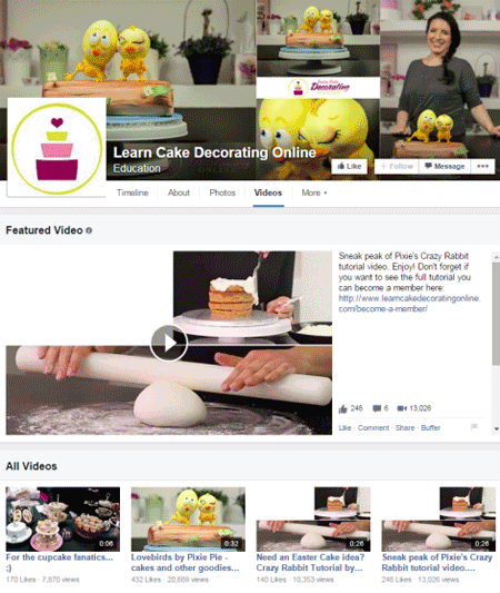 learn cake decorating online facebook videos