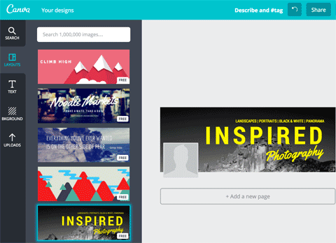 facebook page cover image template on canva