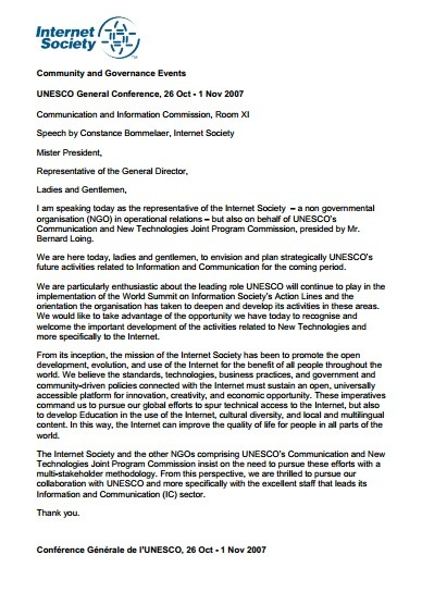 UNESCO General Conference, 26 Oct – 1 Nov 2007 Thumbnail