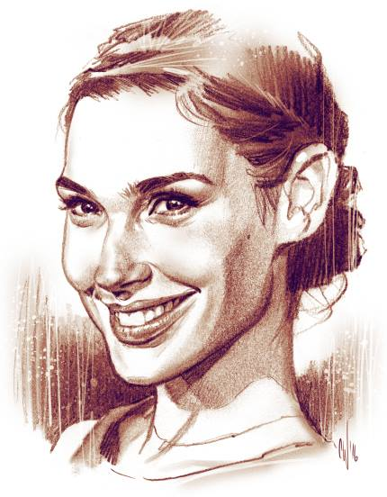 Great videos of Chris Wahl drawing a girl Gal Gadot