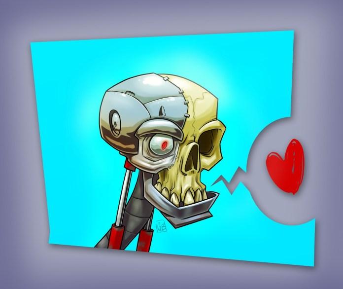 cyborgSkull-cartoon illustrations.