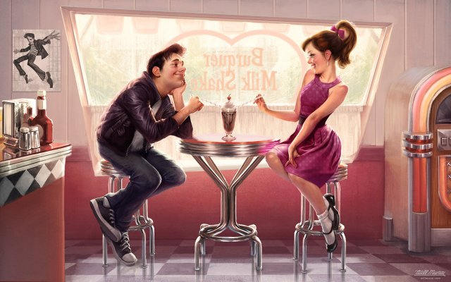 Romantic Illustration by Will Murai