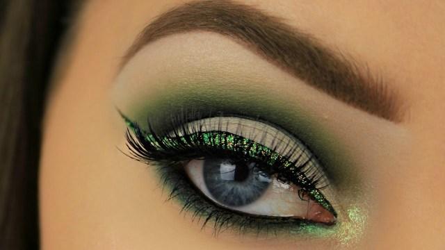 st patricks day eyes makeup