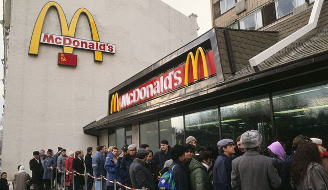 Opening Of The First Mcdonalds In Ussr 1990th Internet