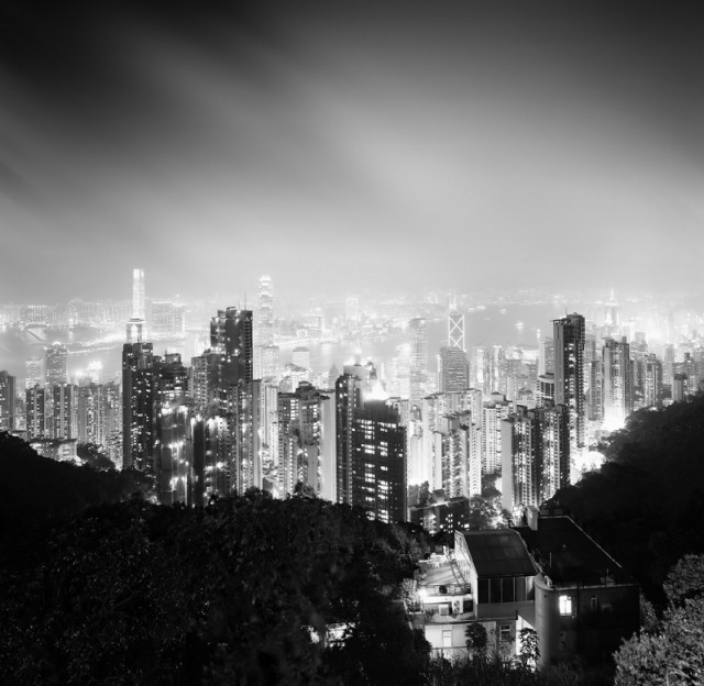 BW Cityscapes Of Hong Kong