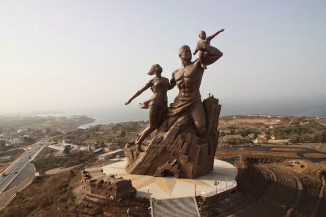 Monument to african renaissance senegal africa sculpture statue
