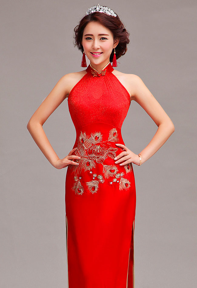 asian inspired chinese red dresses ★  internet vibes