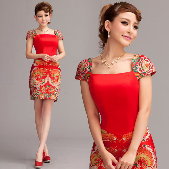 Chinese cocktail dress