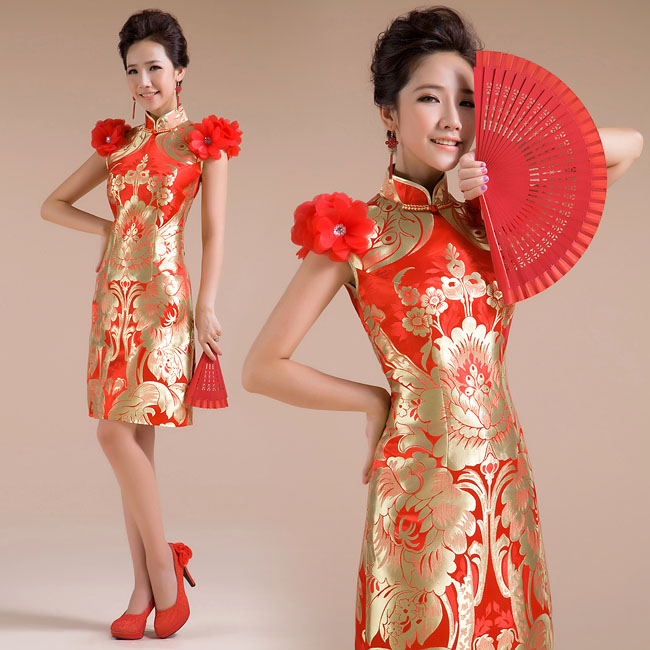 Asian-inspired-mandarin-red-Chinese-dress (25)