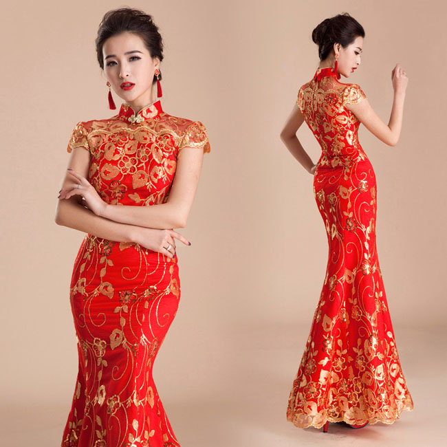 ... Asian-inspired-mandarin-red-Chinese-dress (3) ...