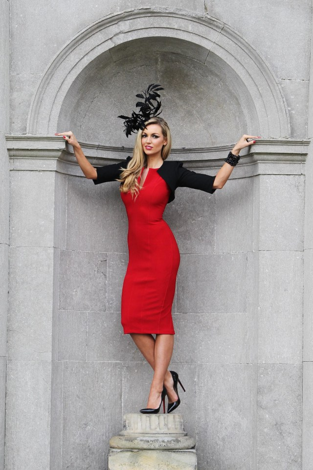 "MAXWELLS-NO FEE PICS ROUGE IS EN VOGUE AT THE  2011 Fairyhouse Easter Festival Carton House announce sponsorship of the Most Stylish Lady at The Ladbrokes Irish Grand National on Easter Monday 21-2-11 ""Lady in Red"" Rosanna Davison was pictured today at the announcement that Carton House, one of Ireland's leading luxury hotels will once again be hosting the Most Stylish Lady competition in association with Ladbrokes taking place on Easter Monday, 25th April at Fairyhouse Racecourse, Co. Meath.  Adding a dash of glamour and sophistication to the launch, Rosanna, who will be one of the judges on the day, put Irish ladies on course for a stylish day out at the races with her inspirational outfit incorporating a splash of rouge when she was pictured at Carton House.