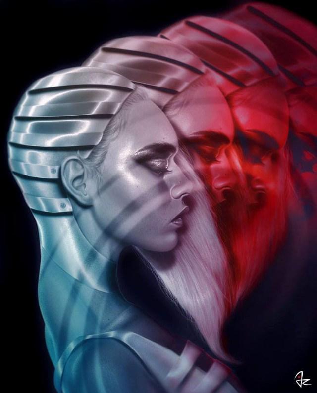 Digital Paintings of Women