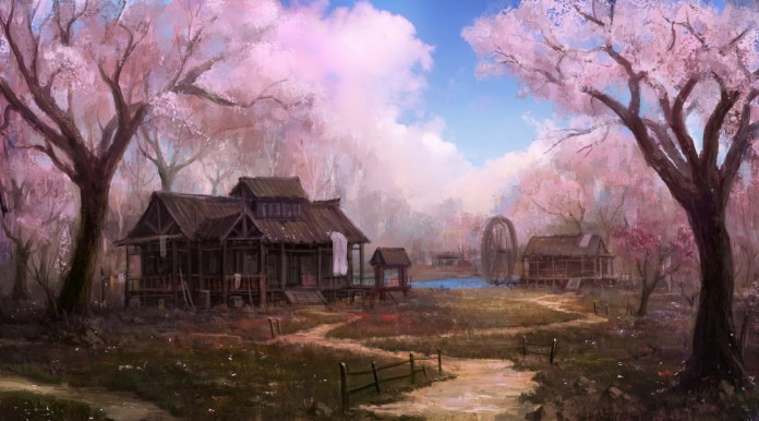 village_of_peach_flower_by_wanbao_futuristic_art