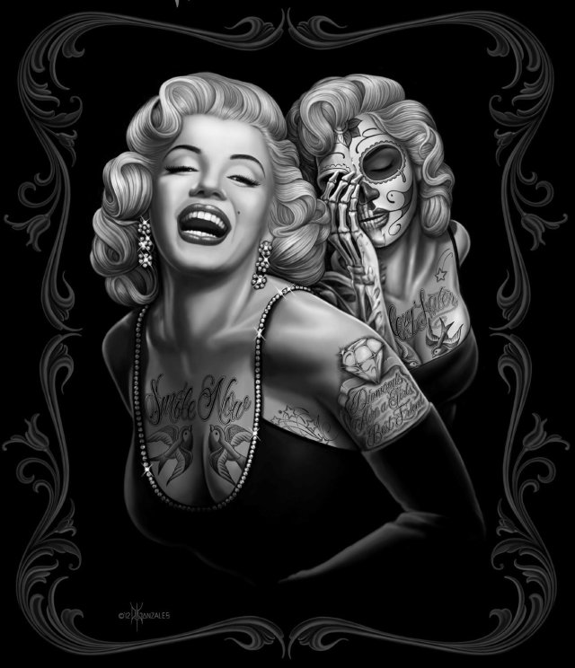 Marilyn Monroe Tattoo Art