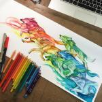 Pencil_Marker_Animal_illustrations_By_Katy_Lipscomb