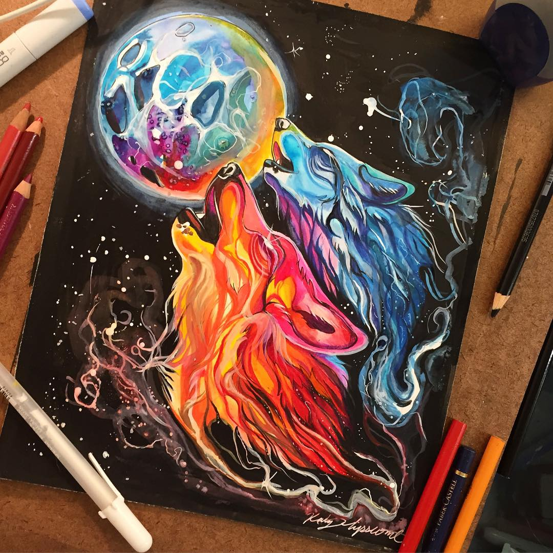Colorful Pencil And Marker Illustrations By Katy Lipscomb
