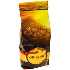 Mt. Whitney Coffee Roasters, Organic Ground Coffee, French Roast.