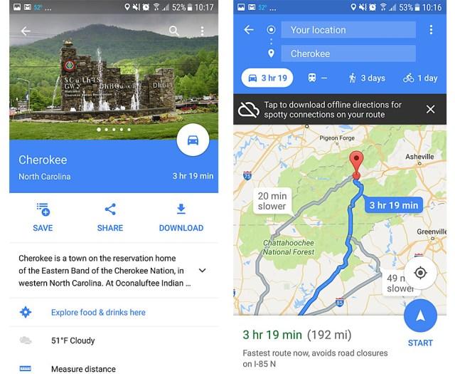 Weather app Google maps
