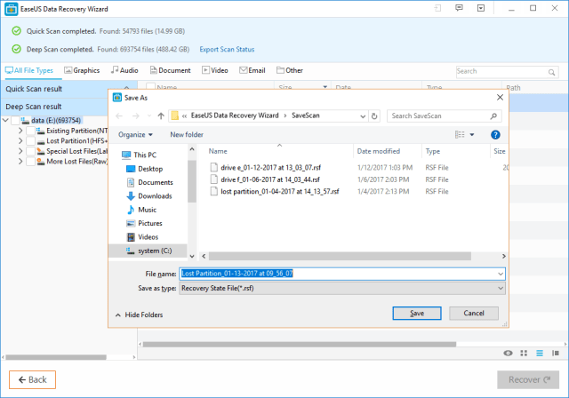 EaseUS Data Recovery Wizard Review export