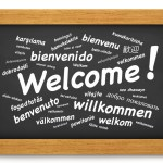 Welcome International Chalkboard