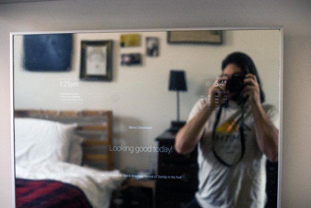 Voice controlled mirror