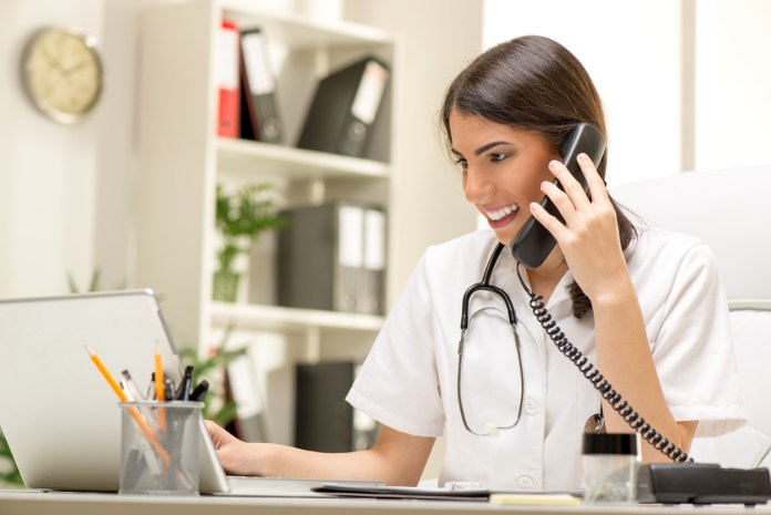 Female Doctor In The Office
