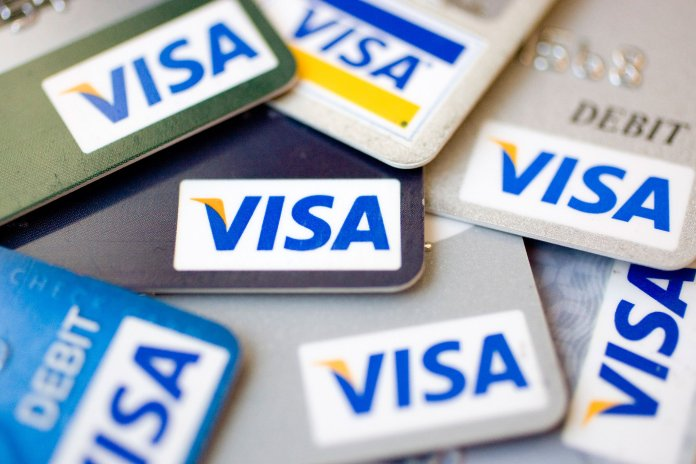 players use Visa cards