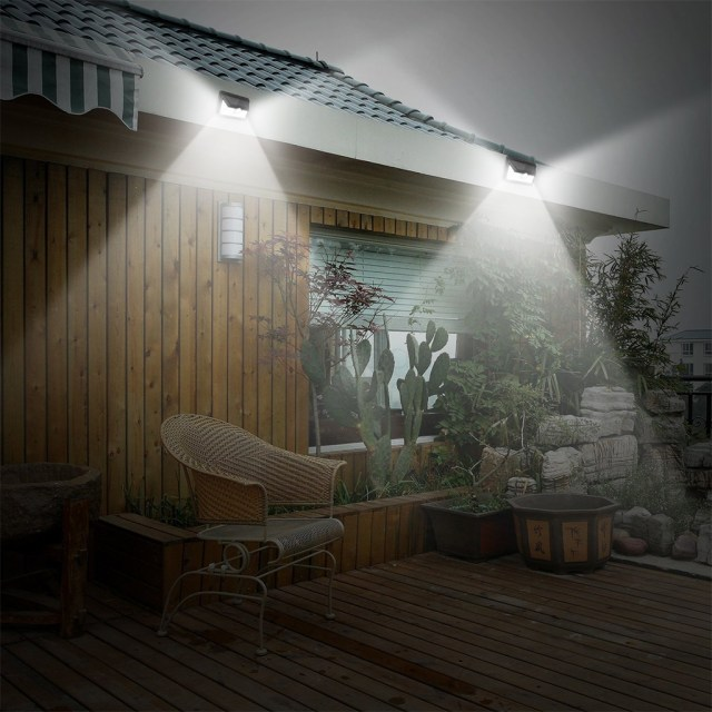 motion sensors are placed in both the front and backyard