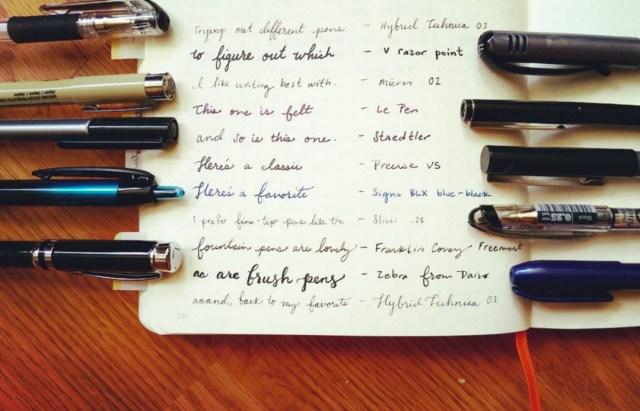 pen and bullet journaling