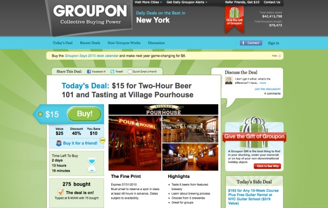 The Groupon - Let the Discounts Begin