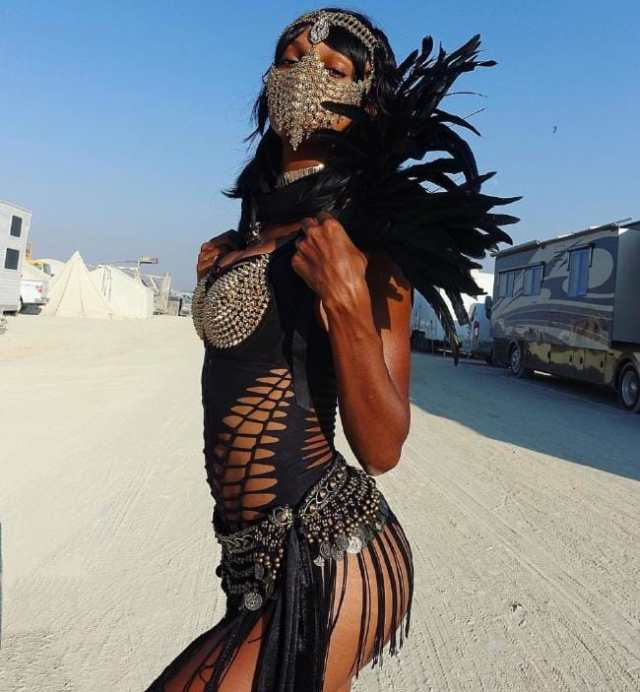Jasmine Tookes Burning Man Costumes.