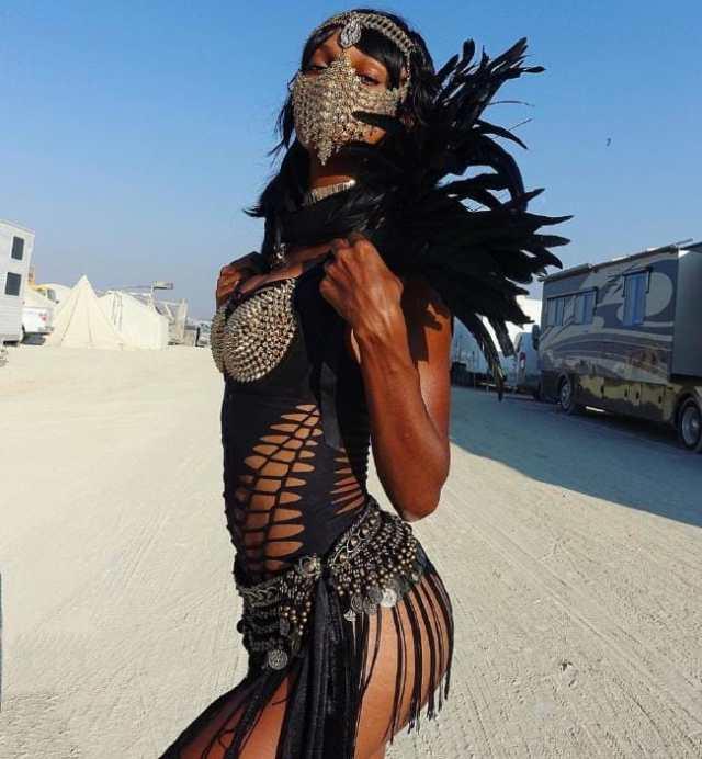 Jasmine Tookes Burning Man Costumes.