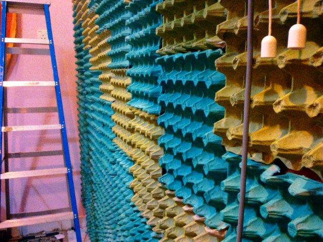 Absorb Sound With Egg Cartons