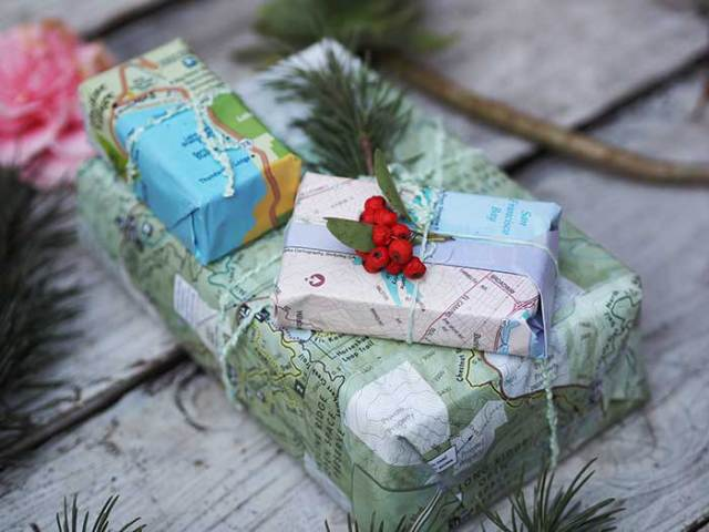 map-gift-wrapping-paper ideas