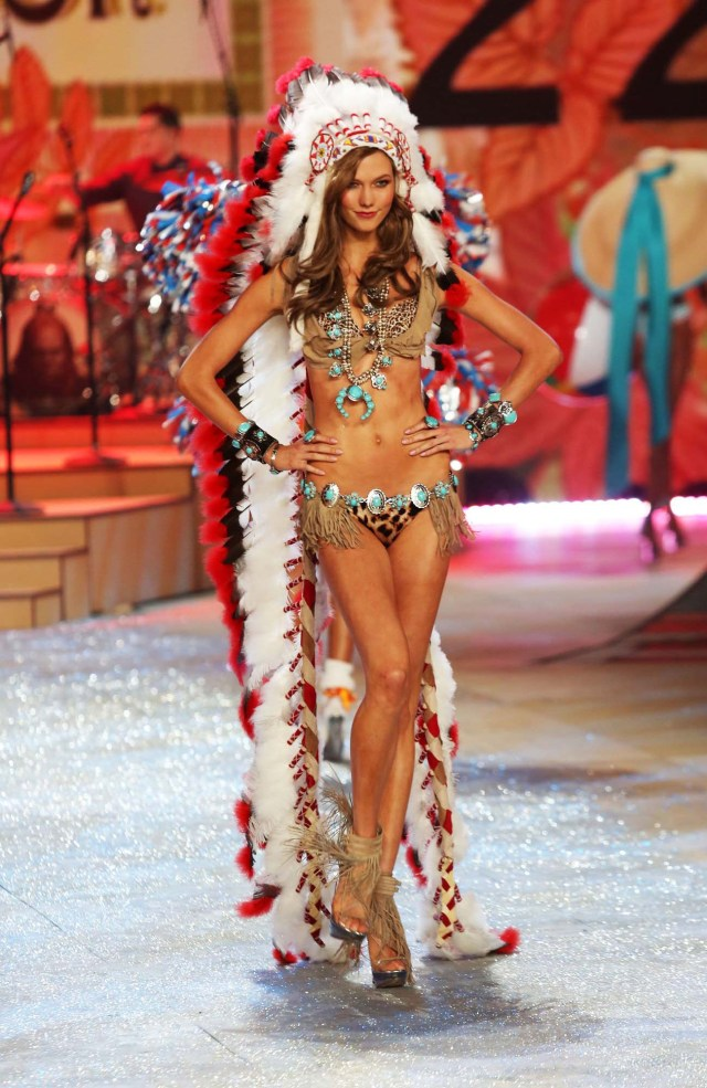2012, Karlie Kloss wore a Native American headdress